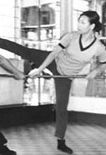 Lily Lau teaching at her fathers studio in Hong Kong